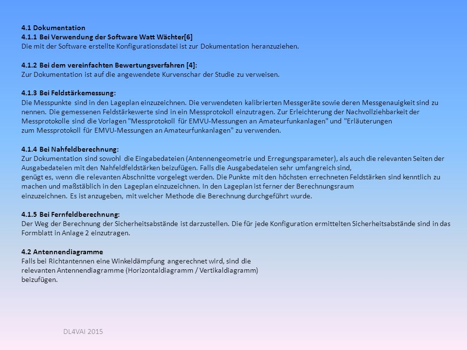 4.1 Dokumentation 4.1.1 Bei Verwendung der Software Watt Wächter[6]